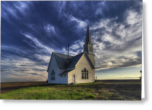 Rocklyn Zion German Methodist Church Greeting Card by Mark Kiver
