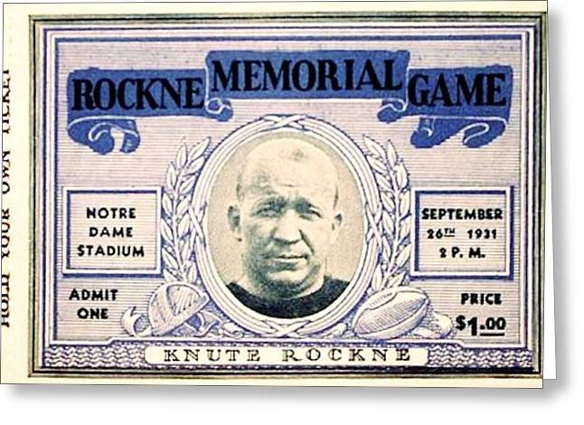 Notre Dame Football Greeting Cards - Rockne Memorial Game Greeting Card by Benjamin Yeager