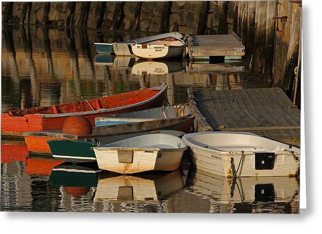 Rockport Dinghies Greeting Card by Juergen Roth