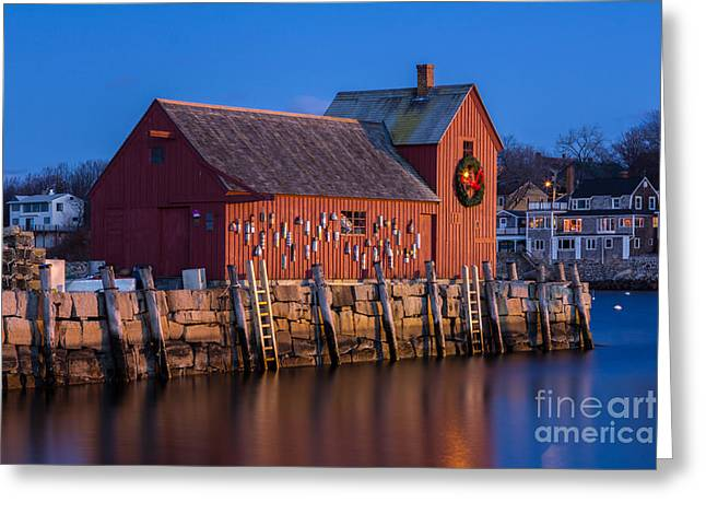 Rockport Ma Greeting Cards - Rockport Harbor Greeting Card by Kelly Carey