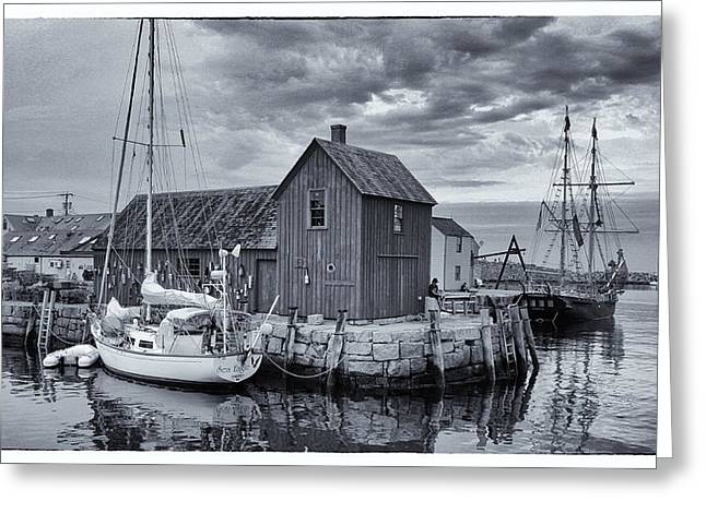 Lobster Shack Greeting Cards - Rockport Harbor Lobster Shack Greeting Card by Stephen Stookey