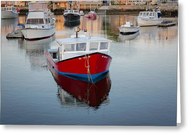 Fishing Greeting Cards - Rockport Harbor Marina Greeting Card by Susan Candelario