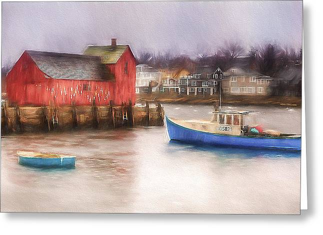 Motif Number One Greeting Cards - Rockport Harbor Greeting Card by Michael Petrizzo