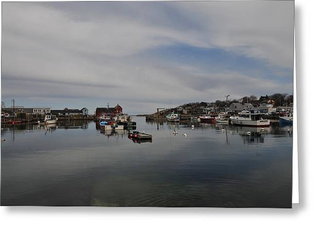 Rockport Harbor Greeting Card by Mike Martin