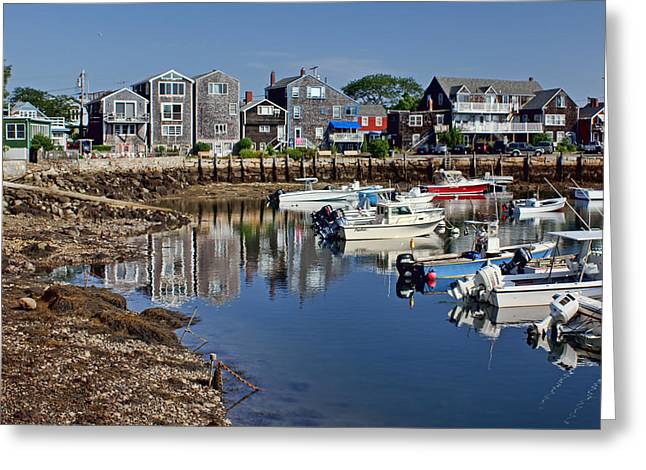 New England Village Greeting Cards - Rockport Harbor Greeting Card by Nikolyn McDonald