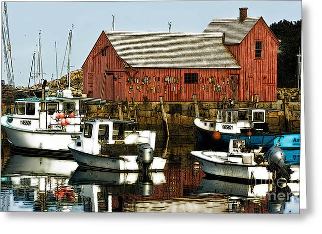 Lobster Shack Greeting Cards - Rockport Lobster Shack Greeting Card by Jerry Fornarotto