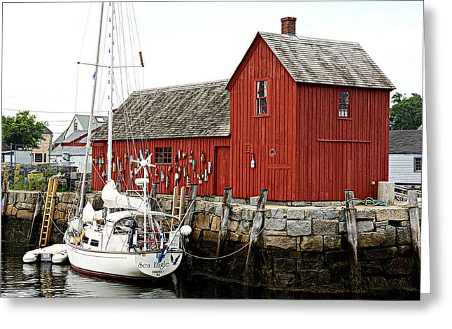 Lobster Shack Greeting Cards - Rockport - Motif Number 1 Greeting Card by Stephen Stookey