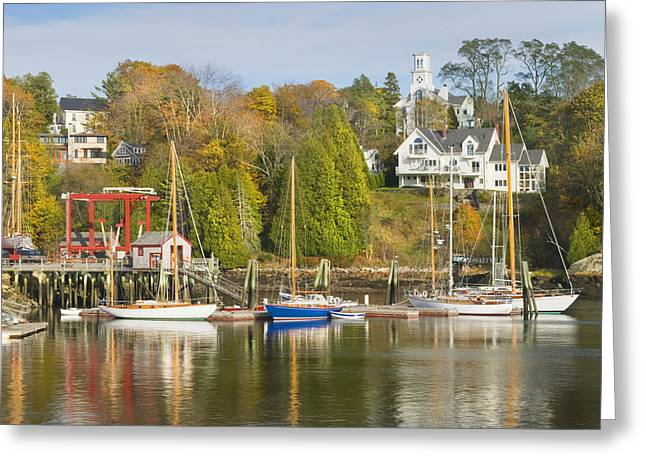 Maine Landscape Greeting Cards - Rockport on The Coast Of Maine Greeting Card by Keith Webber Jr