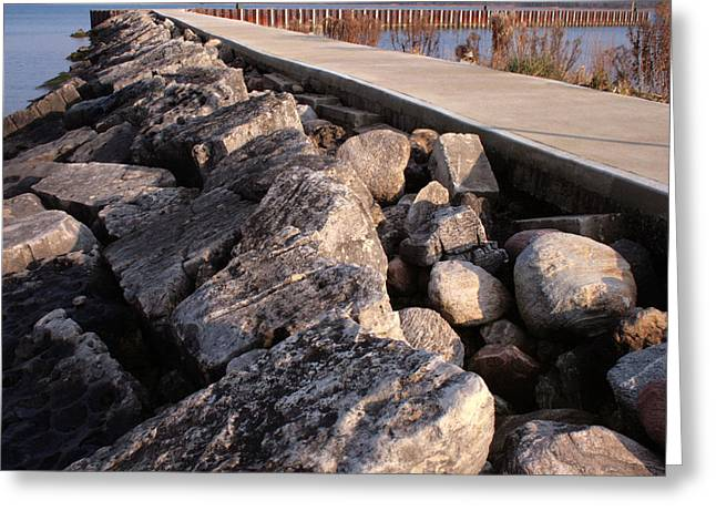 Ontario Greeting Cards - Rocks and Girders Greeting Card by Merv Scoble