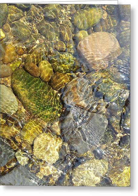 Rill Greeting Cards - Rocks and Pebbles 3 Greeting Card by David Stribbling