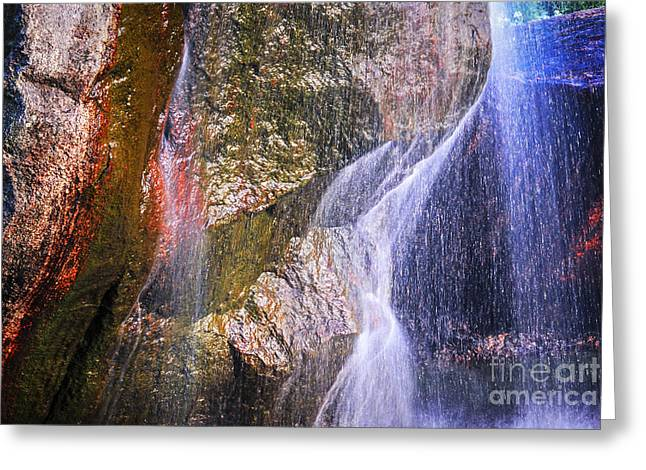 Flowing Greeting Cards - Rocks and water Greeting Card by Elena Elisseeva