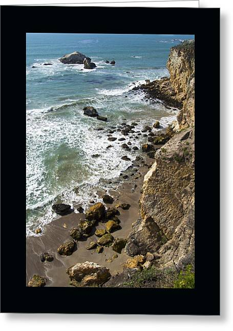 California Ocean Photography Paintings Greeting Cards - Rocks At Shell Beach Duvet Greeting Card by Barbara Snyder