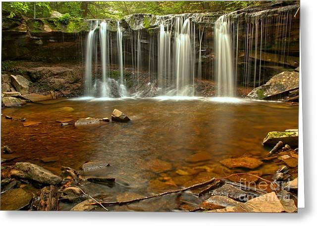 Oneida Greeting Cards - Rocks Below Oneida Falls Greeting Card by Adam Jewell