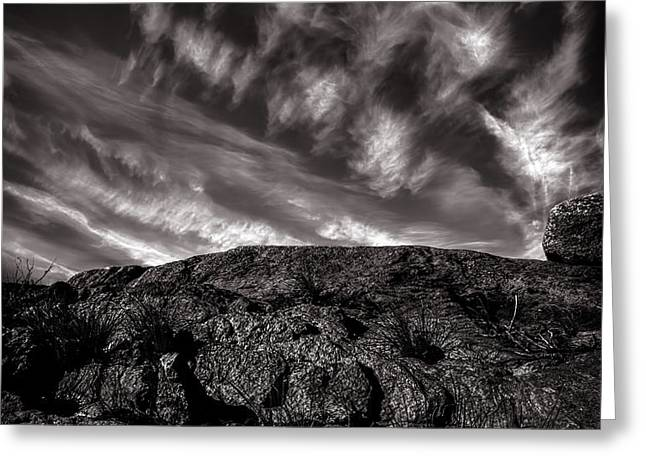 Rocks Clouds Water Greeting Card by Bob Orsillo