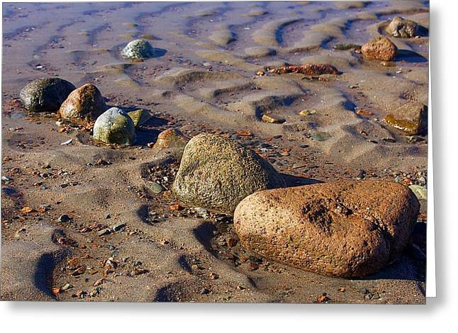 Greeting Cards - Rocks in a Row Greeting Card by Stuart Litoff