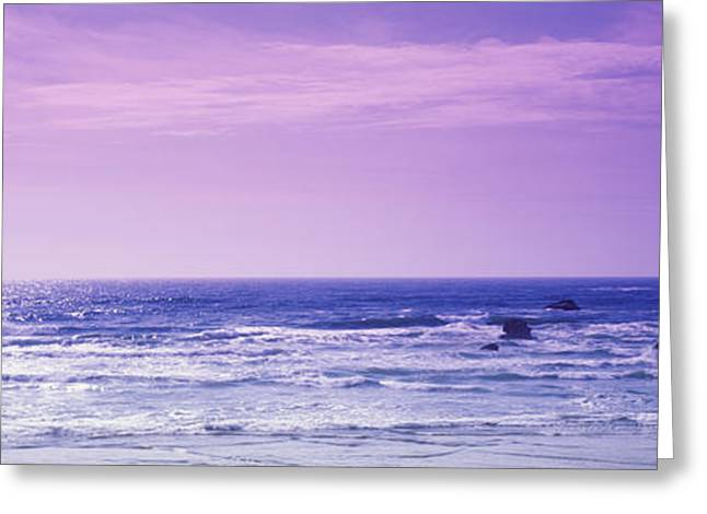 Cloud Reflections In Water Greeting Cards - Rocks In The Ocean, Pacific Ocean Greeting Card by Panoramic Images