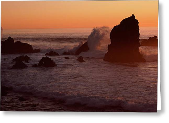 Big Sur California Greeting Cards - Rocks In The Sea, California, Usa Greeting Card by Panoramic Images