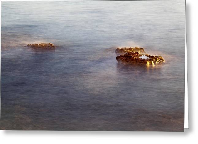 Lily Greeting Cards - Rocks in Water Greeting Card by Lily