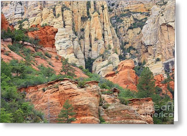 Rocks Of Sedona Greeting Card by Carol Groenen