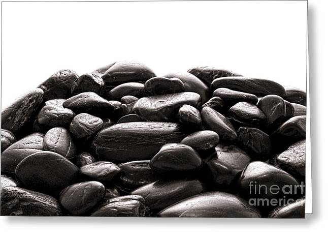 Stones Photographs Greeting Cards - Rocks Greeting Card by Olivier Le Queinec