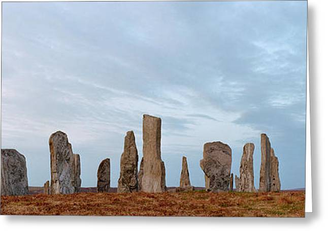 Civilization Greeting Cards - Rocks On A Landscape, Callanish Greeting Card by Panoramic Images