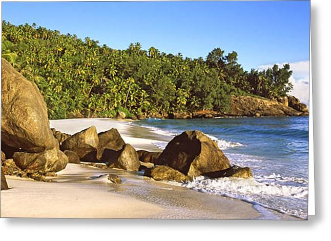 Panoramic Ocean Greeting Cards - Rocks On A Small Beach On North Island Greeting Card by Panoramic Images