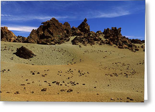 Rocks On An Arid Landscape, Pico De Greeting Card by Panoramic Images