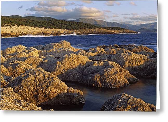 Beach Photography Greeting Cards - Rocks On The Beach, Alaties Beach Greeting Card by Panoramic Images