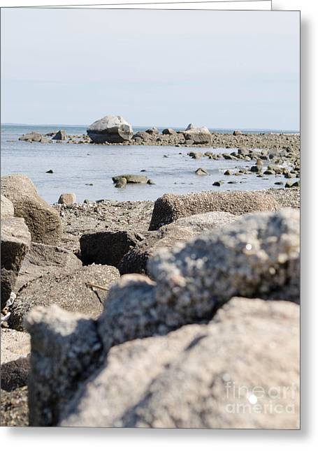 Newengland Greeting Cards - Rocks on the beach Greeting Card by Andrea Anderegg