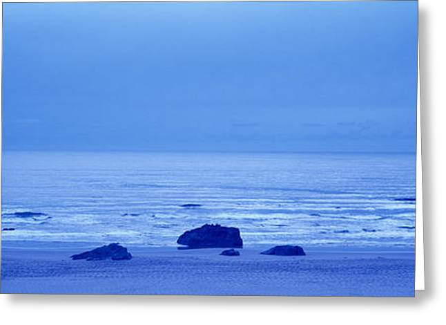 Beach Photography Greeting Cards - Rocks On The Beach, Bandon Beach Greeting Card by Panoramic Images