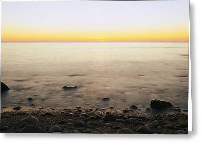 New England Ocean Greeting Cards - Rocks On The Beach, Block Island, Rhode Greeting Card by Panoramic Images