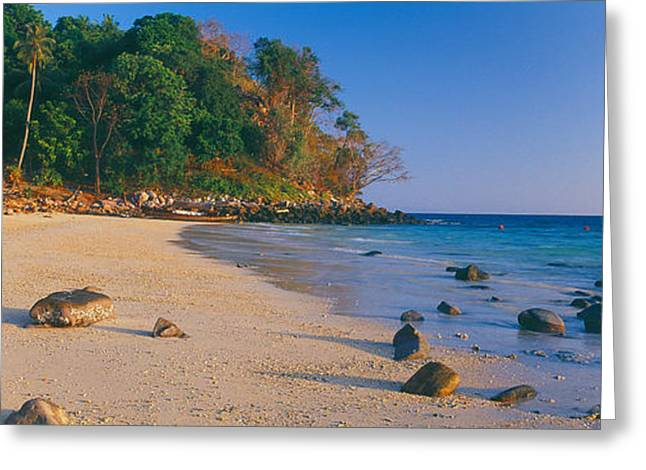 Phi Greeting Cards - Rocks On The Beach, Phi Phi Islands Greeting Card by Panoramic Images