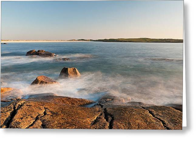 County Galway Greeting Cards - Rocks On The Coast, Dogs Bay Greeting Card by Panoramic Images