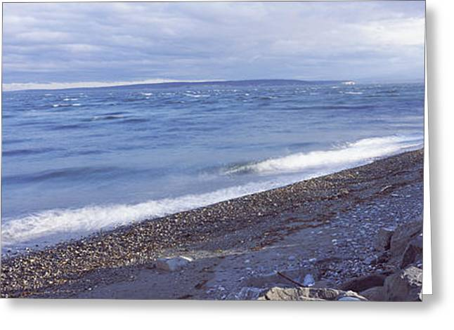 Fort Casey Greeting Cards - Rocks On The Coast, Fort Casey State Greeting Card by Panoramic Images