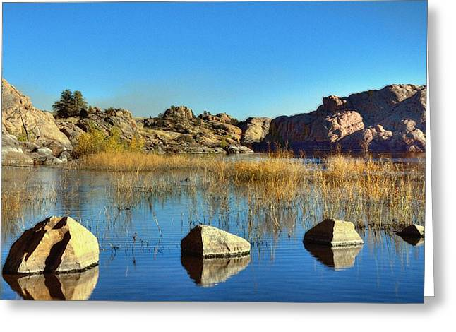 Willow Lake Greeting Cards - Rocks V.S. Cliffs Greeting Card by Thomas  Todd