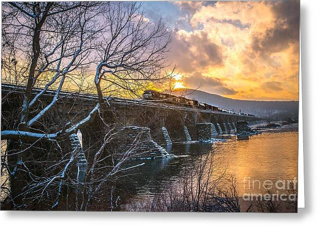 Steve Miller Greeting Cards - Rockville Bridge Greeting Card by Steve Miller