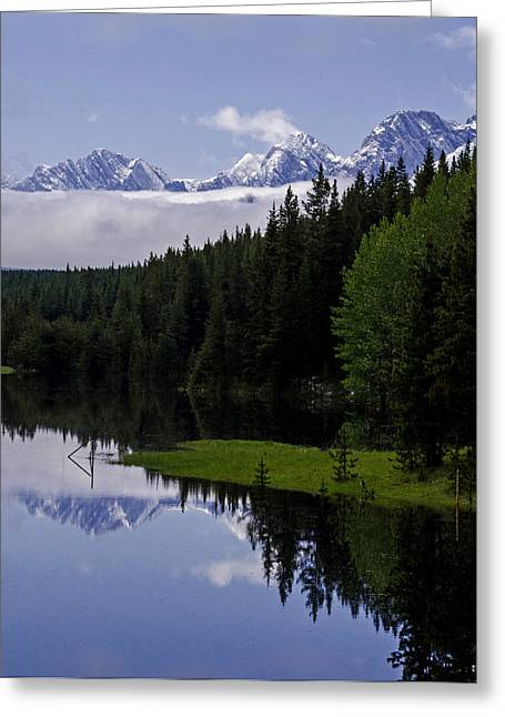 Jordan Trail Greeting Cards - Rockwall Lake - Kananaskis Country Greeting Card by Jordan Blackstone