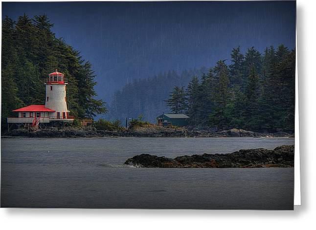 Sitka Greeting Cards - Rockwell Lighthouse Sitka Alaska Greeting Card by Ryan Smith