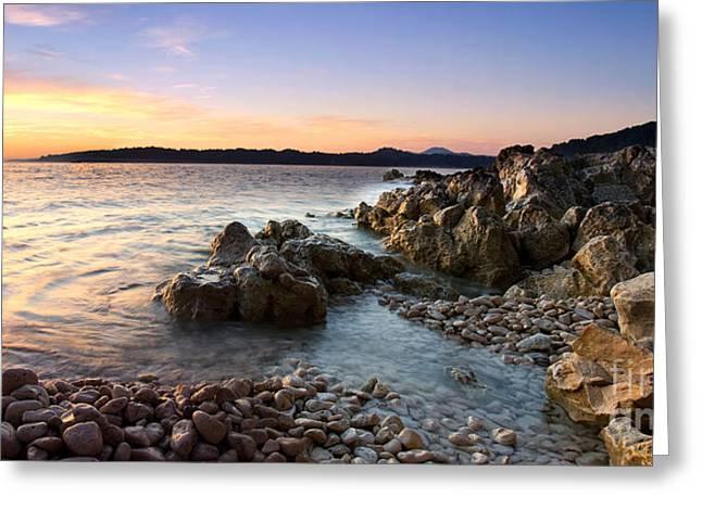 Mediterranean Landscape Greeting Cards - Rocky Adriatic Greeting Card by Sinisa Botas