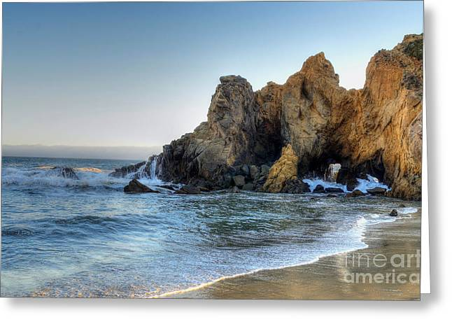 Pfeiffer Beach Greeting Cards - Rocky and Glossy Greeting Card by Diana Vitoshka