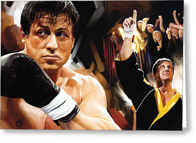 Rocky Artwork 2 Greeting Card by Sheraz A