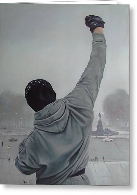Sylvester Greeting Cards - Rocky Balboa Greeting Card by Riard