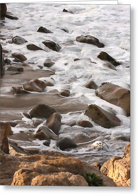 Pacific Grove Beach Greeting Cards - Rocky Beach Greeting Card by Art Block Collections