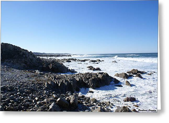 Cambria Digital Greeting Cards - Rocky Beach Greeting Card by Barbara Snyder
