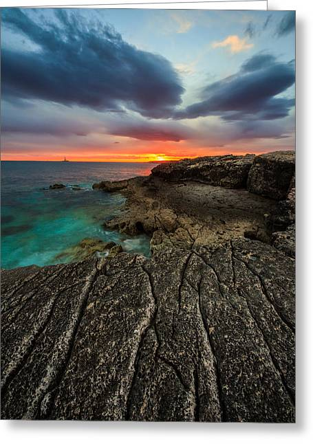 Croatia Greeting Cards - Rocky beach Greeting Card by Davorin Mance