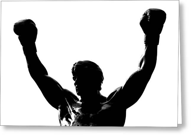 Stallone Greeting Cards - Rocky Greeting Card by Benjamin Yeager