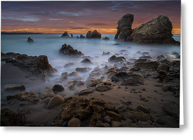 Rocky California Beach Greeting Card by Larry Marshall