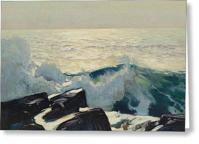 Frederick Greeting Cards - Rocky Coast and Sea Greeting Card by Frederick Judd Waugh