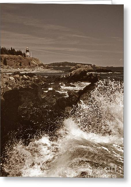 Ocean Art Photos Greeting Cards - Rocky Coast Greeting Card by Skip Willits