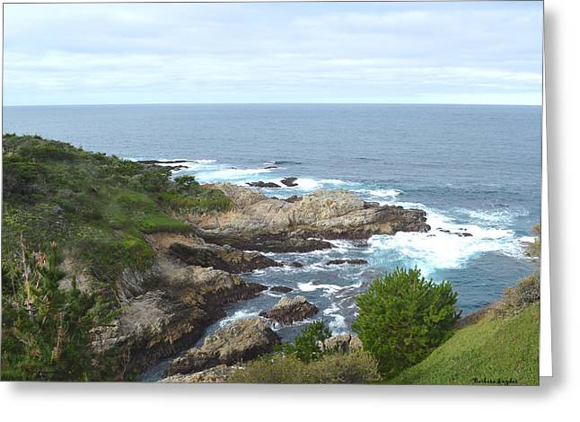 Big Sur Digital Art Greeting Cards - Rocky Cove Greeting Card by Barbara Snyder